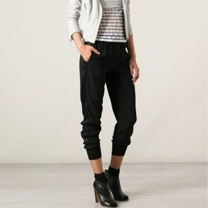 Vince Ribbed Cuff Jogger with Satin Side Stripe